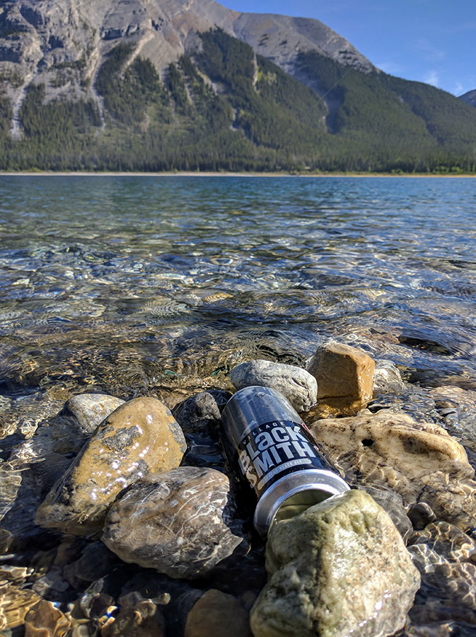 Fishing Spray Lakes Reservoir Black Smith Beer