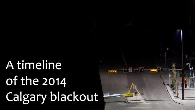 The Calgary Blackout of 2014: timeline of events
