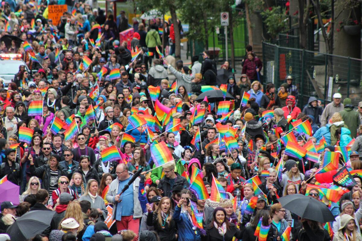 Living in downtown Calgary Calgary Pride Parade Photo