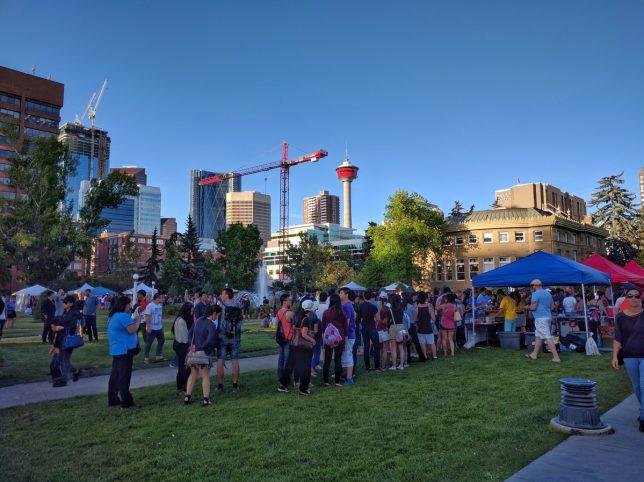 Calgary Night Market Food Line