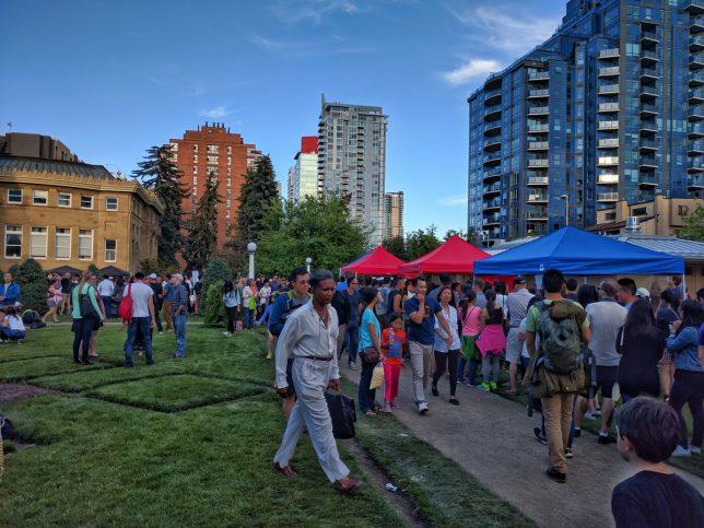 Calgary Night Market lots of people
