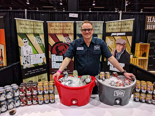 Jeff from Toolshed Brewing at Grape Escape