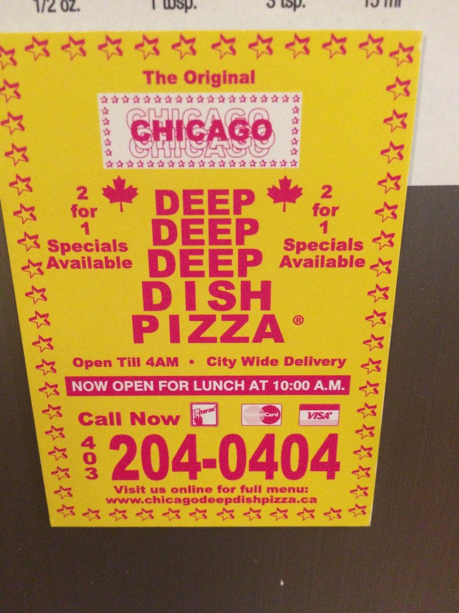 Chicago Deep Dish Pizza Flyer