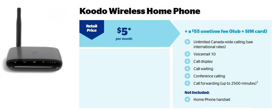 Koodo Mobile Wireless Home Phone