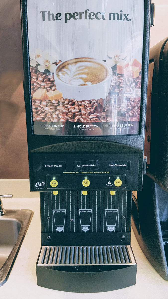 Simply Great Coffee hot chocolate machine