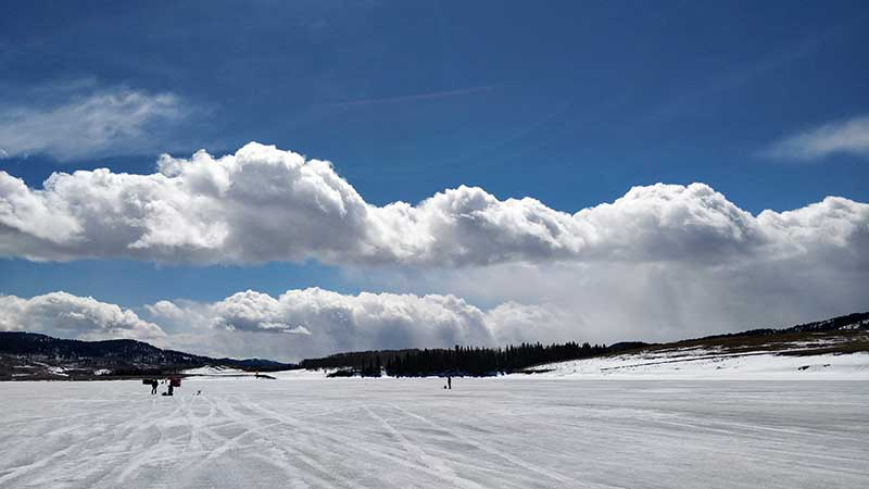 Ice Fishing at Chain Lakes