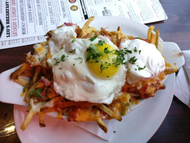 Bunch in Calgary Leopolds Tavern Beltline Hangover Poutine