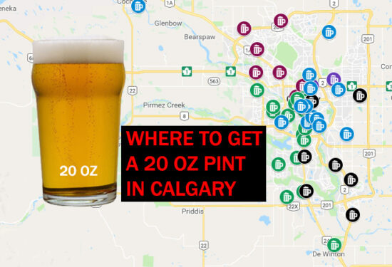 Where to get a 20 oz pint of beer in Calgary