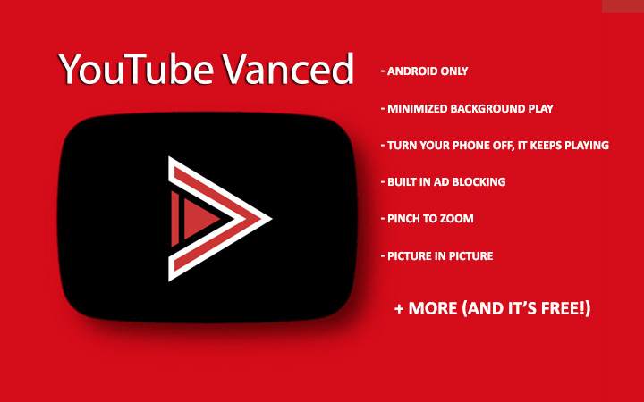 YouTube Vanced for Android  Background play, adblocking + more!