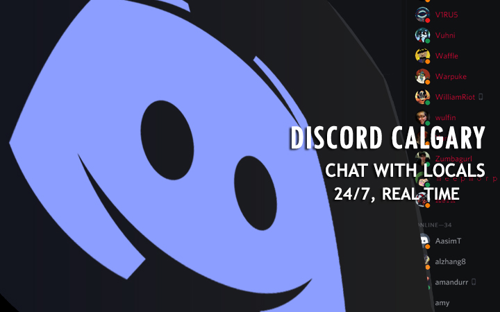 Discord Calgary Server  Local chat rooms, Local people