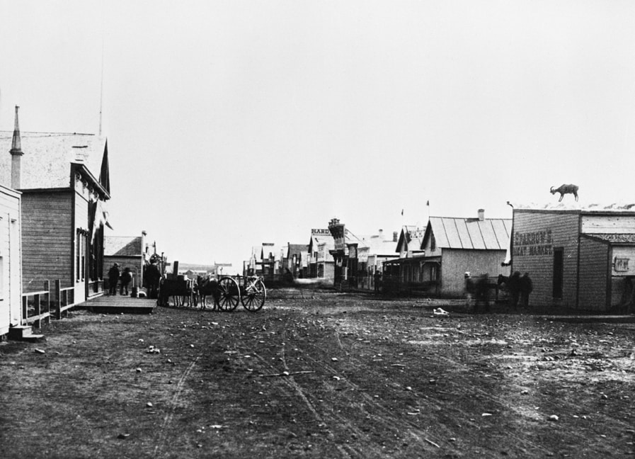 Historical Calgary Stephen Avenue 1800s