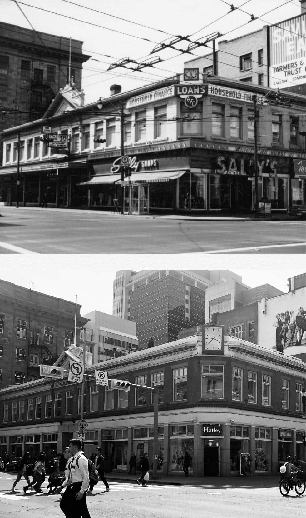 Historical Calgary Stephen Avenue Corner Sally's