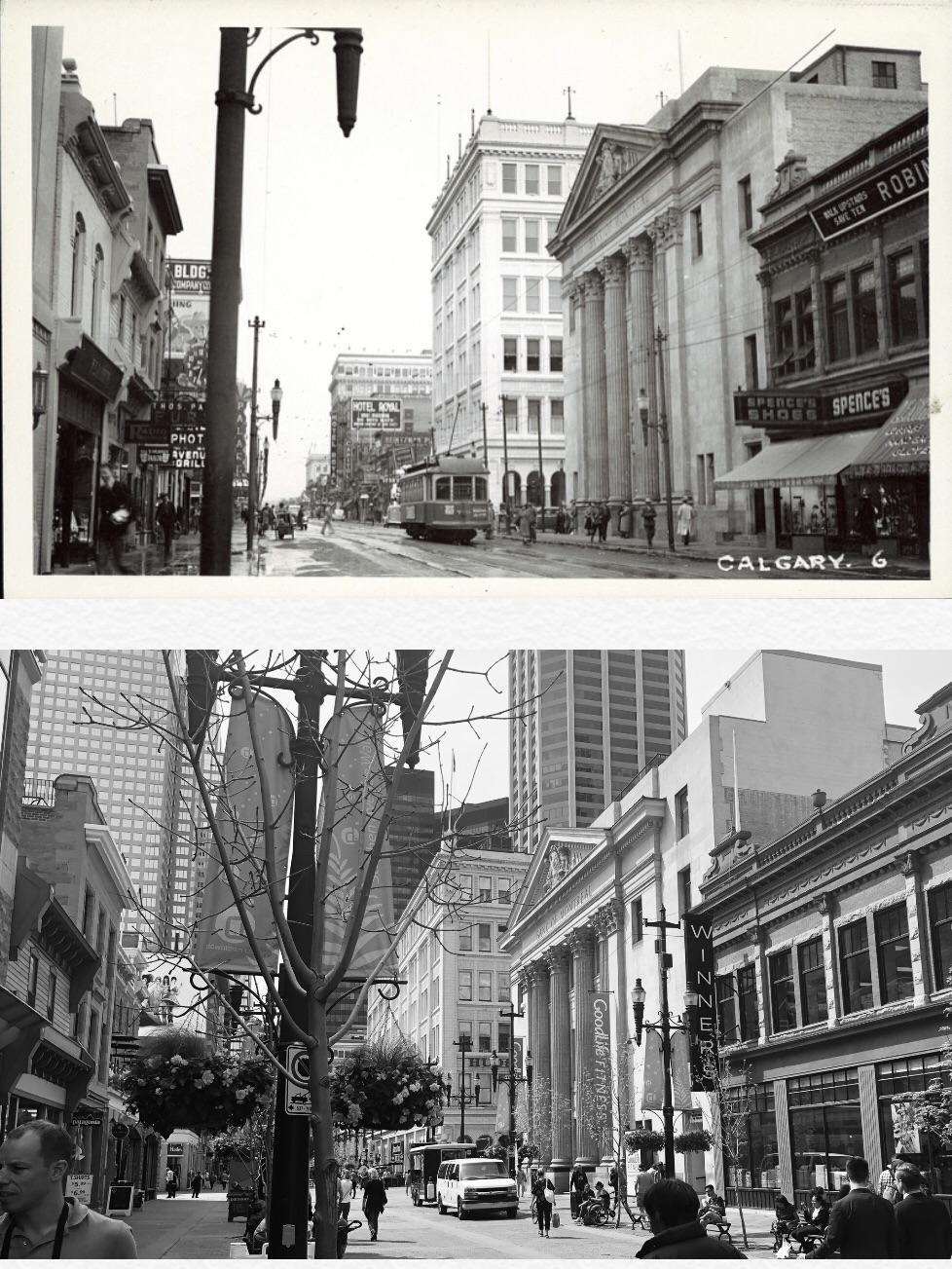 Historical Calgary Stephen Avenue