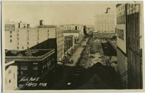 Historical Calgary 9th Avenue