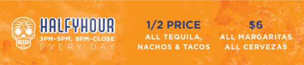 Best happy hours in Calgary Blanco Cantina Halfyhour