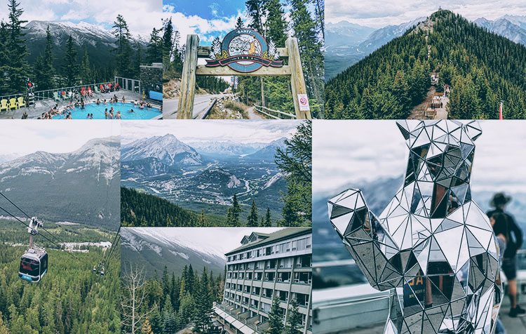 Banff Without A Car hot springs rimrock gondola