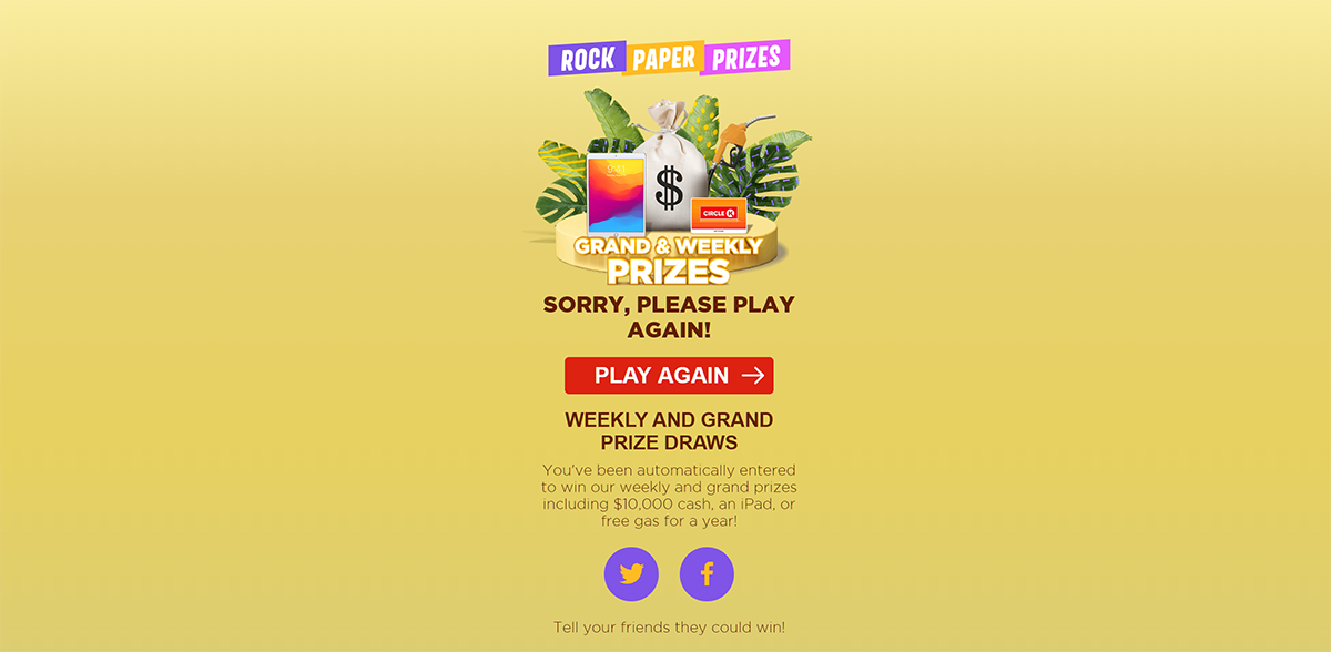 Rock Paper Prizes play again