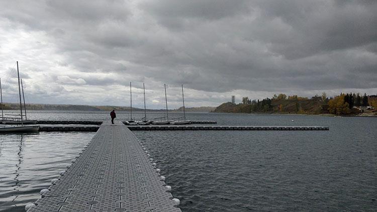 Fishing Glenmore Reservoir Docks