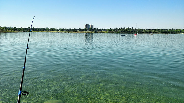 Fishing Glenmore Reservoir