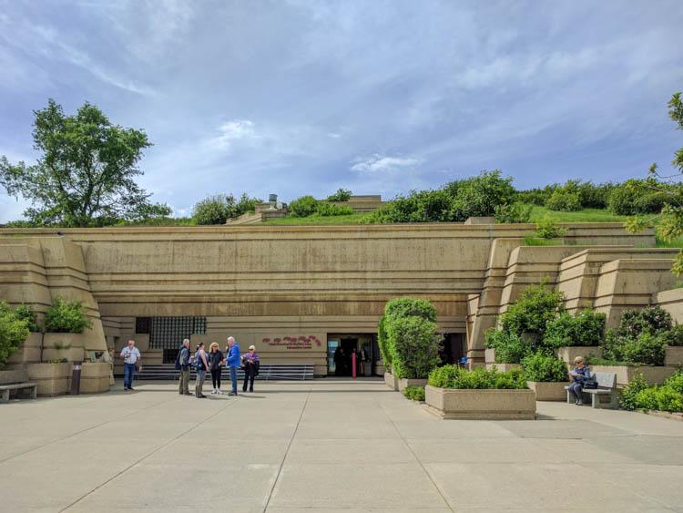 Head-Smashed-In Buffalo Jump Museum Enterance