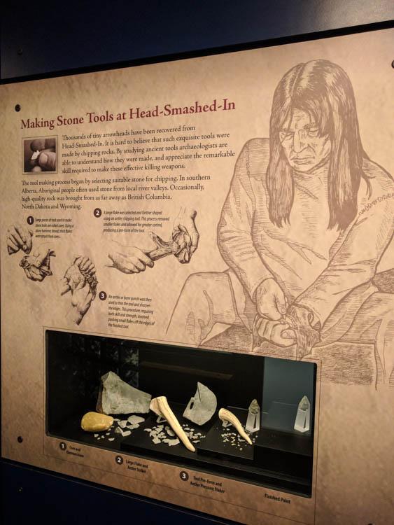 Head-Smashed-In Buffalo Jump Tools Exhibit