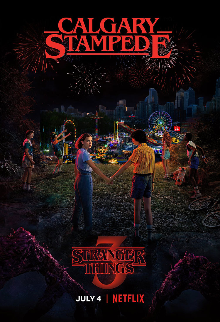 Stranger Things Calgary Stampede Netflix Poster