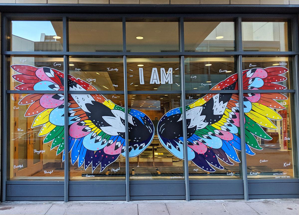 Calgary TELUS Convention Centre IAM Pride mural