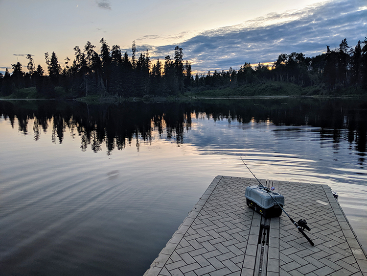 Camping Birch Lake Fishing Dock