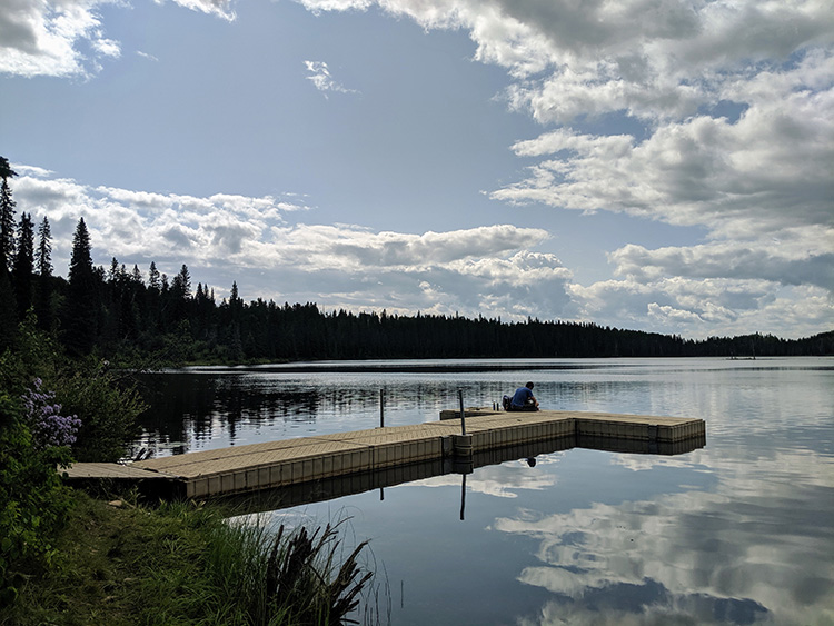 Camping Birch Lake Docks