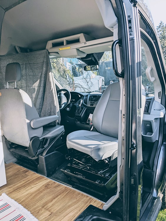Karma Campervans passenger chair swivel