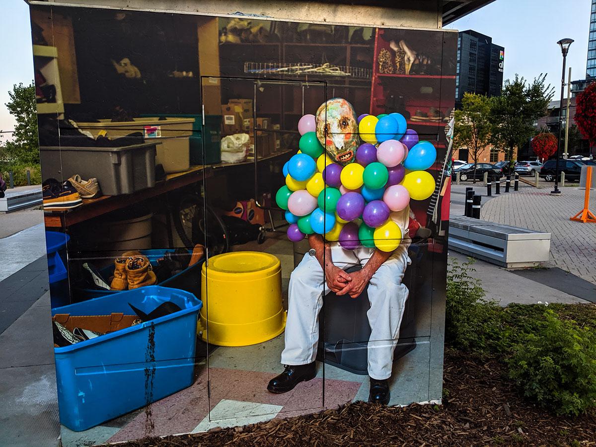 East Village Mask Mural Balloons