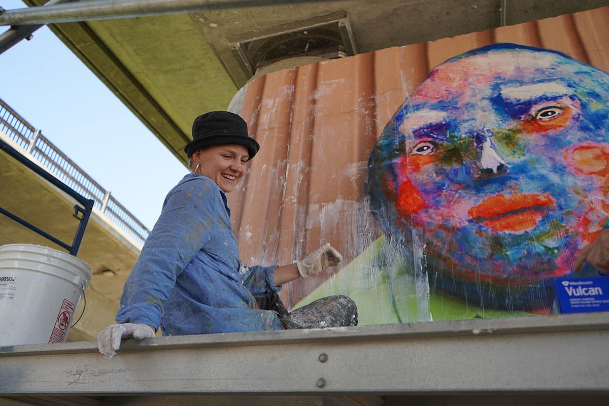 Bridge Art Install Katie Green