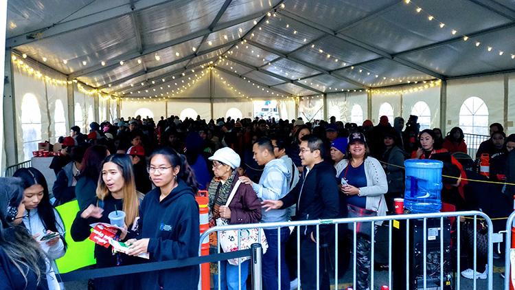 Jolibee Calgary line up queue opening day