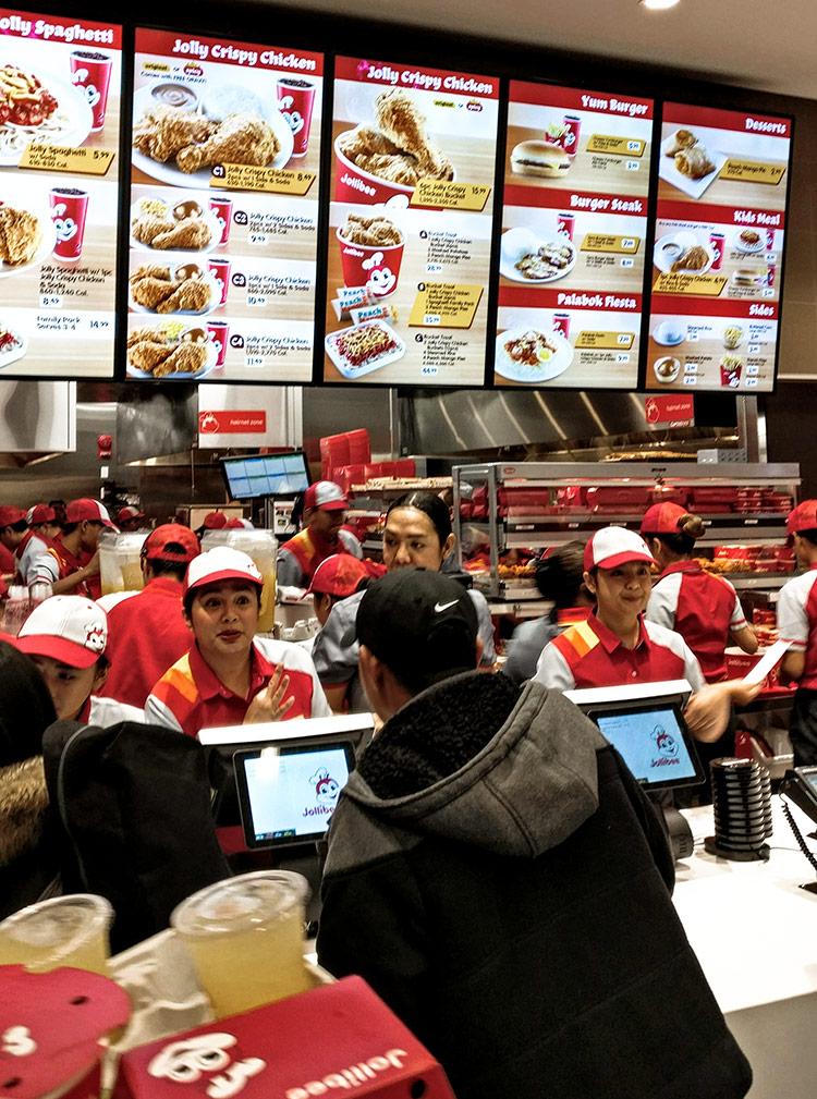 Jolibee Calgary staff happy