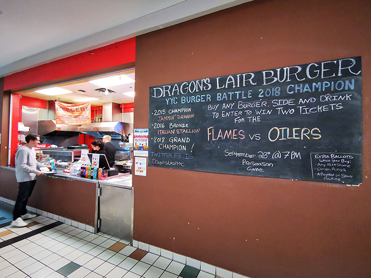 Westbrook Mall Dragons Lair Burger