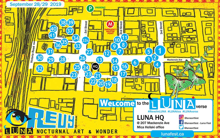 LUNA Art Festival map