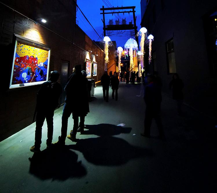LUNA Art Festival Jelly fish