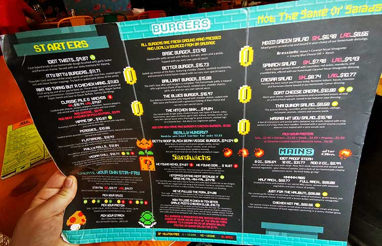 LUNA Art Festival The Village Idiot Menu
