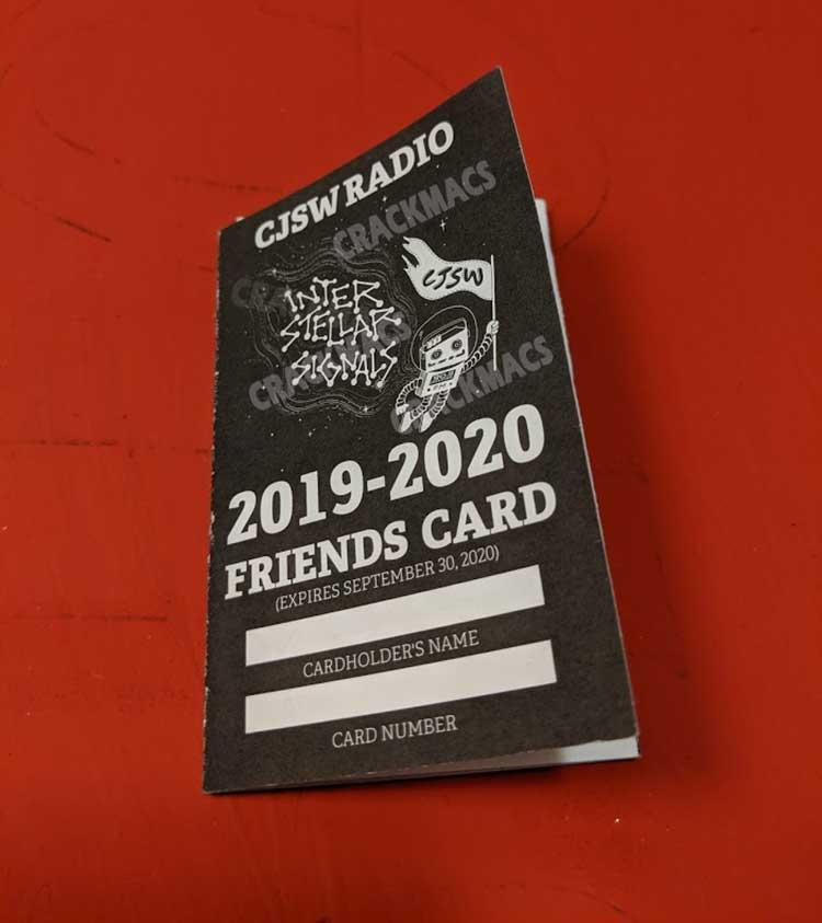 CJSW Friends Card back