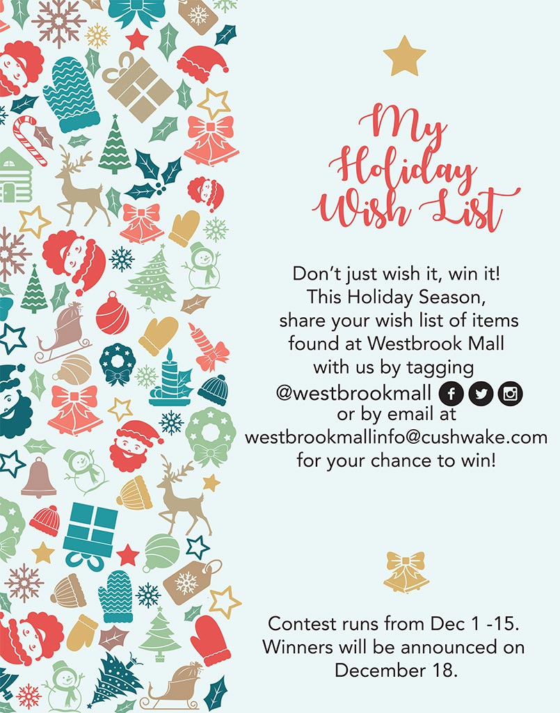 Christmas Westbrook Mall My Holiday Wish List
