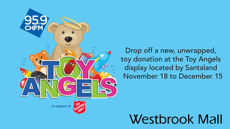 Christmas Westbrook Mall 95.9 CHFM Toy Angels