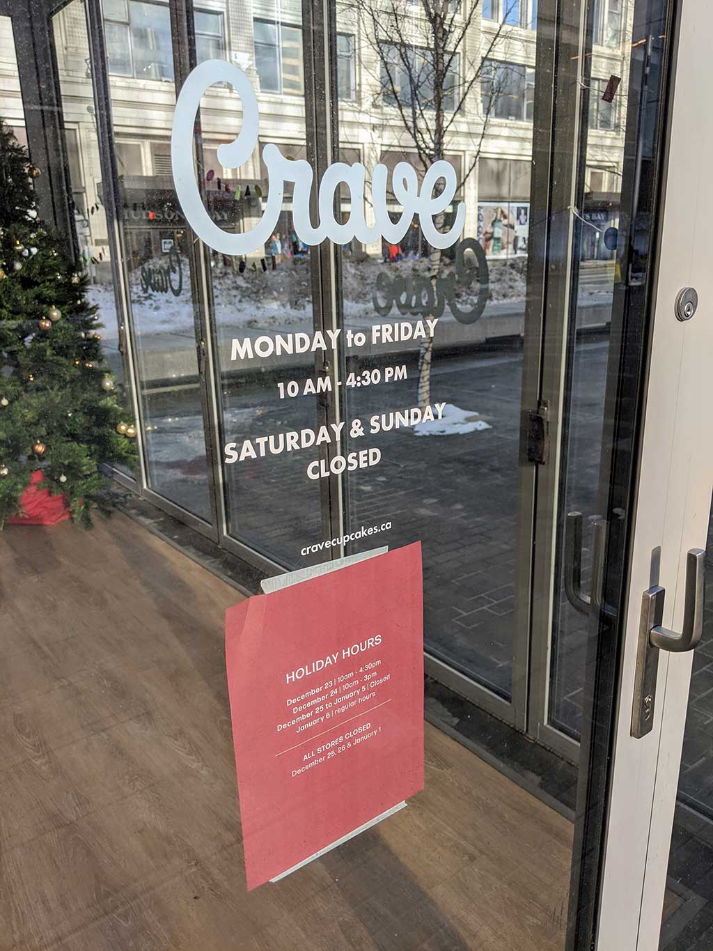 Crave Cupcakes Downtown Hours