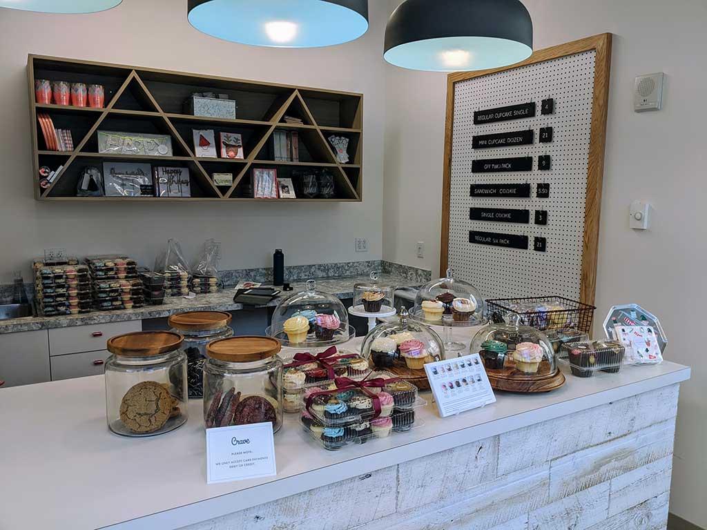 Crave Cupcakes Downtown Inside Pop Up Shop