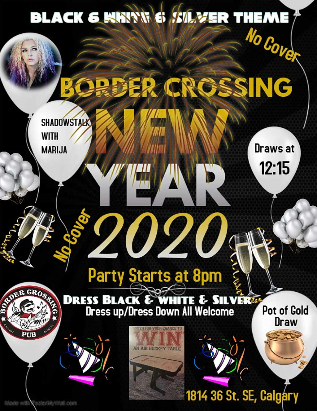 Things To do in Calgary for New Years Eve 2020 Border Crossing Marija
