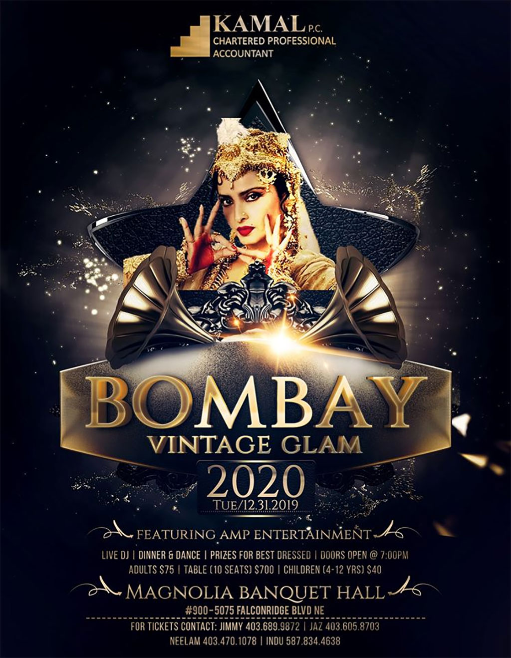 Things To do in Calgary for New Years Eve 2020 Bombar Vintage Glam Bollywood
