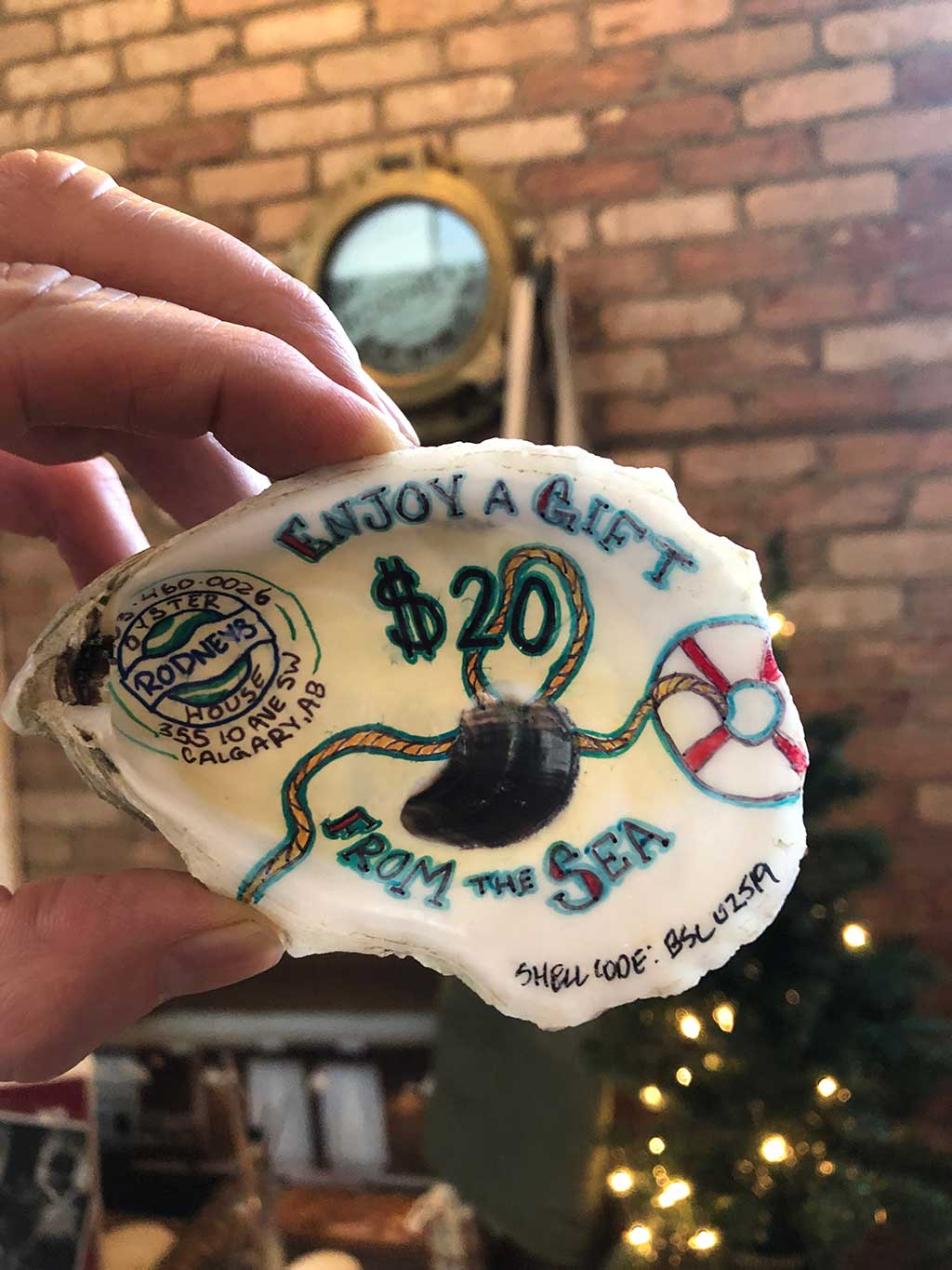 Rodney's Oyster House gift Shells $20 Gift Shell From The Sea