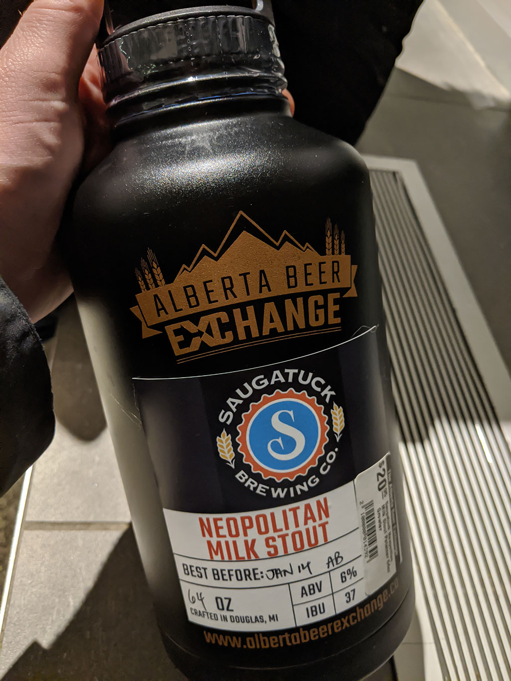 Alberta Beer Exchange Metal Double Walled Sealed Growler