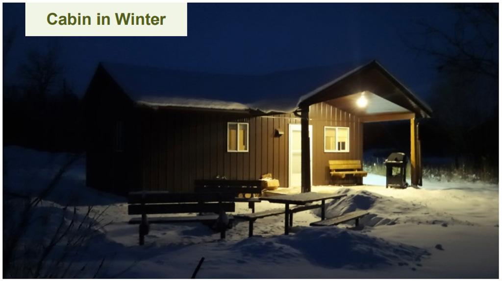 Alberta Parks Photo Contest Winter Cabin