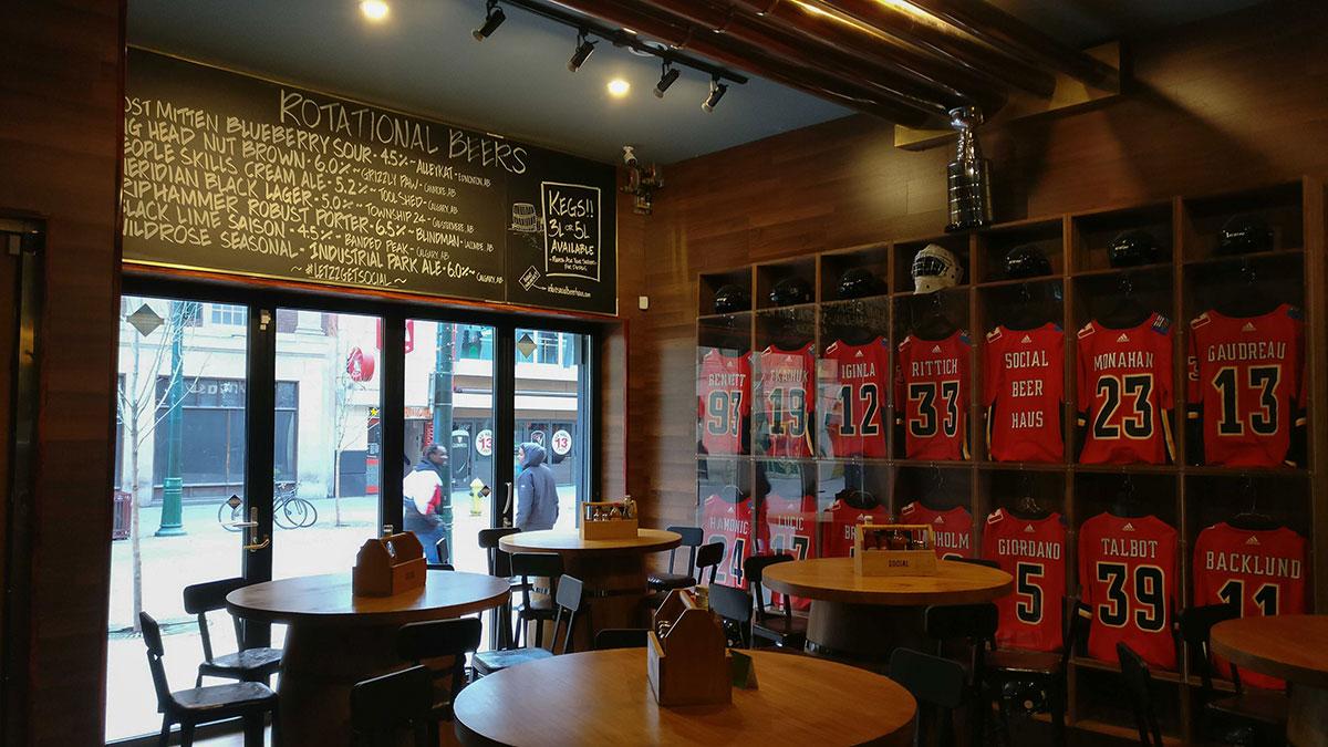 Social Beer Haus Calgary Flames Jerseys
