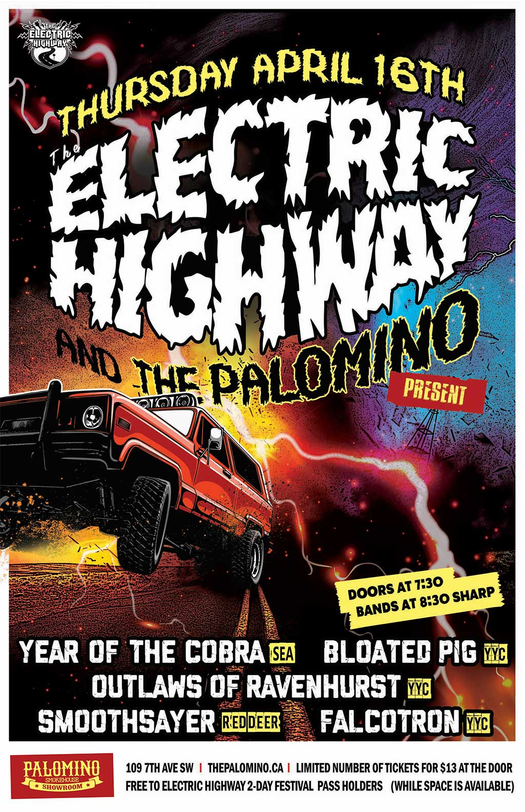 The Electric Highway Festival Kickoff Party Poster